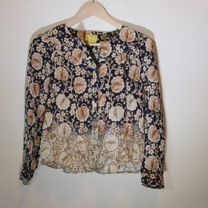 ANTHROPOLOGIE/ floral blouse